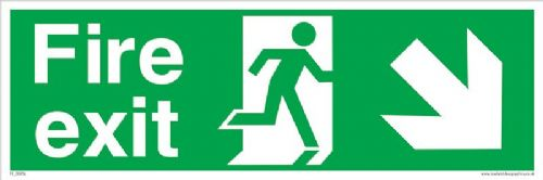 Fire exit Running man Down Right